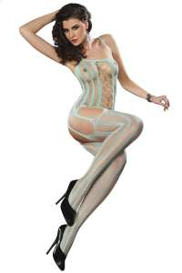 Bodystocking z wycięciami Almas Grayed Jade