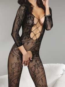 Bodystocking z wycięciami Zita Black