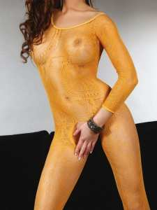 Bodystocking z długim rękawem Abra Orange